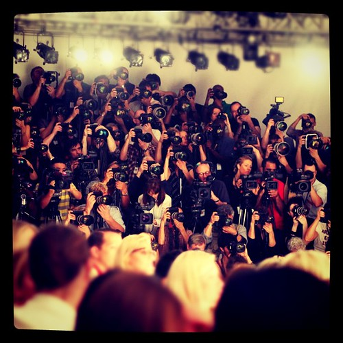 Photo pit at Jill Stuart