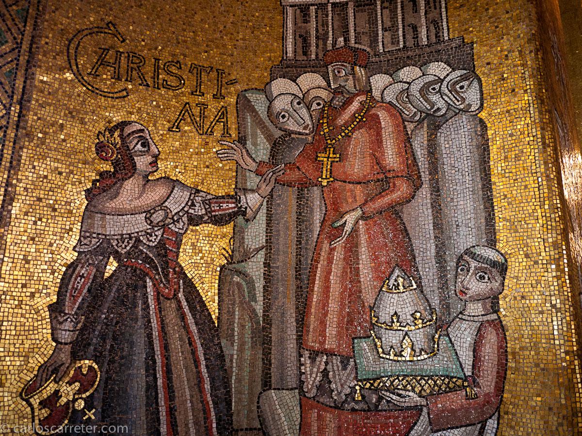 La reina Christina en el Salon de Oro (Stadshuset)