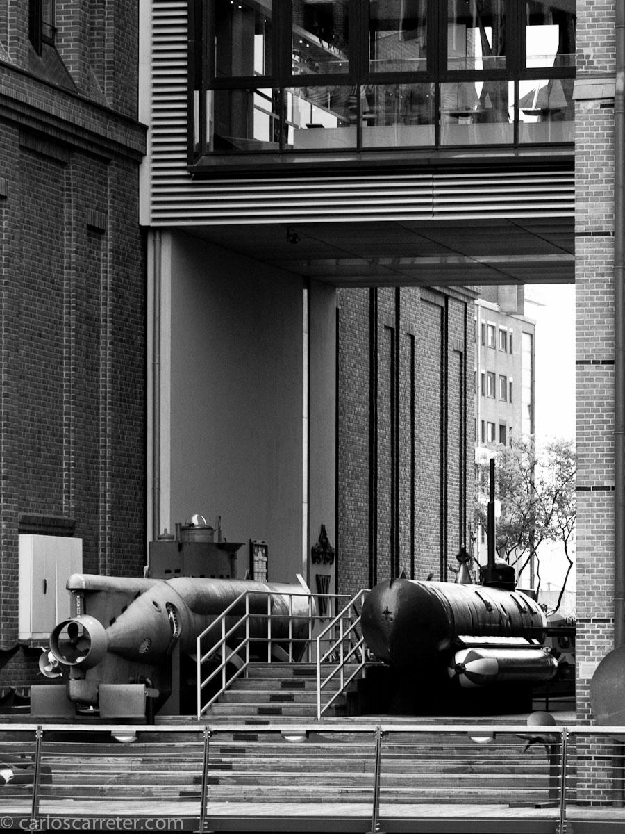 Submarinos de bolsillo en el museo marítimo