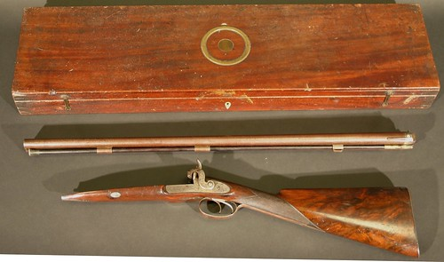 An antique Purdey shotgun, which sold for £3,200