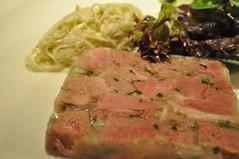Starter detail: Pressé de porc, rémoulade de celeri
