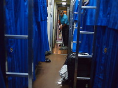 Cleaner, Train 69 from Bangkok to Nong Khai