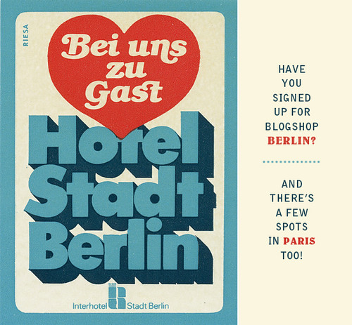 Blogshop Visits Berlin!