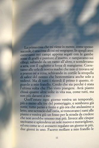 Sandro Campani, Nel paese del Magnano; italic 2010; Grafica di copertina di Giordano Giunta. incipit (part.), 1