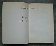 Colette (Sidonie-Gabrielle), Le blé en erbe; Club des éditeurs, (Flammarion), Paris 1956. p. 16 e 17 (part.), 1