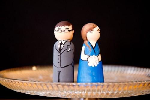 Mini-Chuck & Tara cake toppers!