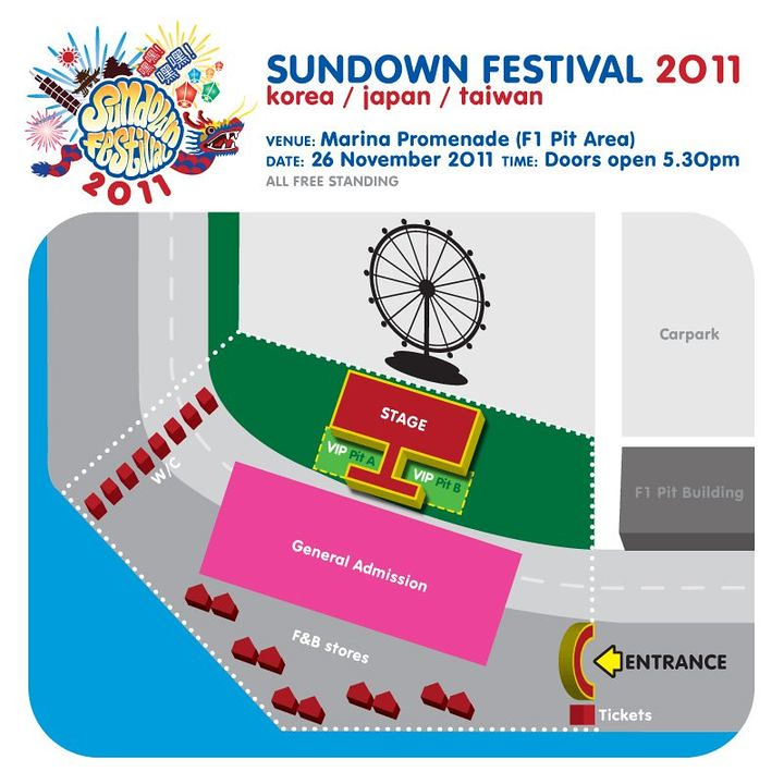 Sundown Festival 2011 Layout
