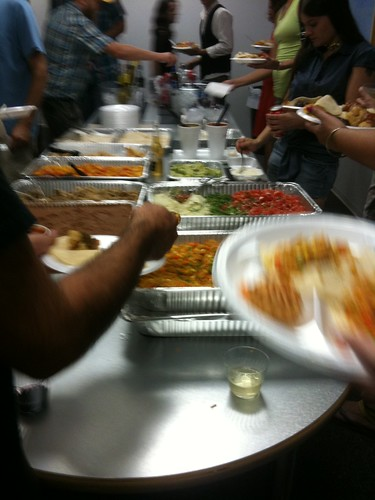 The Taco Bus chow table at the MFA Welcome Back party.