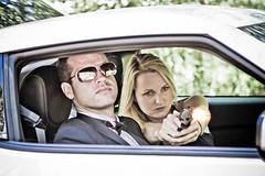 Lis and Brett in Car