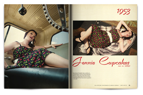 Vintage Magazine Spread Design Project - Pgs. 18 & 19