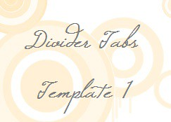 Divider Tabs_Template 1