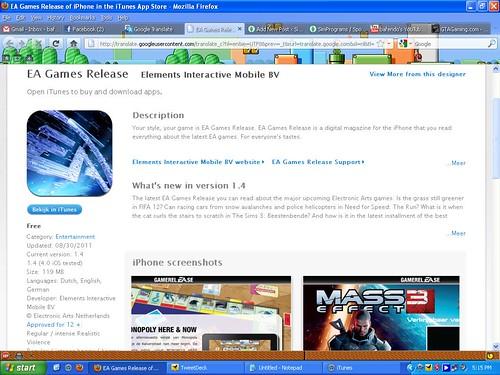 EA Magazine for iPod/iPad.