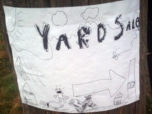 Kid yard sale art