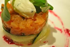 Starter detail: Tartare de saumon sauvage