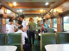 Dining Carriage, Train 69 from Bangkok to Nong Khai