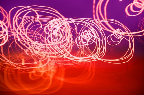 20110824-10_Light-Trail Experiment_Pink on Purple + Orange by gary.hadden
