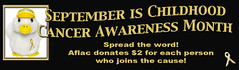 Aflac Childhood Cancer Awareness Banner