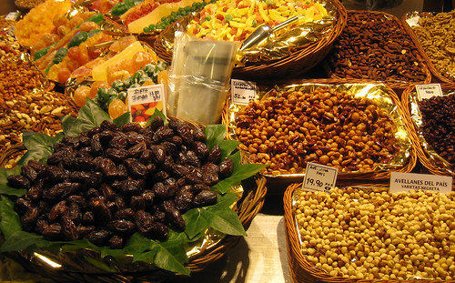 La Boqueria Dried Fruit Closeup