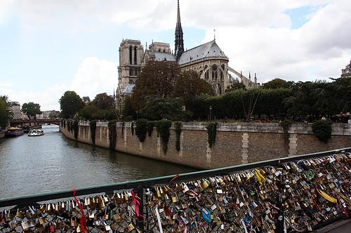 Notre Dame & padlocks