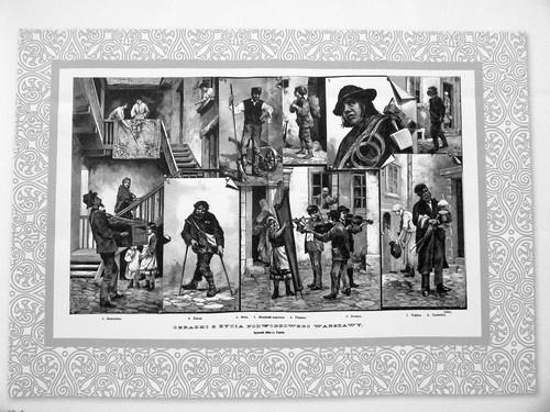 31. Sreet life in Warsaw, 1882