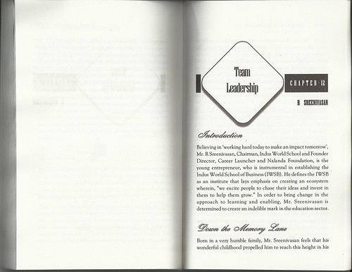 Book - Young leaders Success Code - features R.Sreenivasan