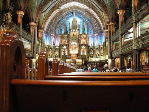 Inside Notre Dame Basilica of Montreal