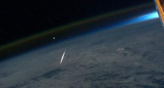 Perseid Meteor Seen From Space (NASA, Internat...