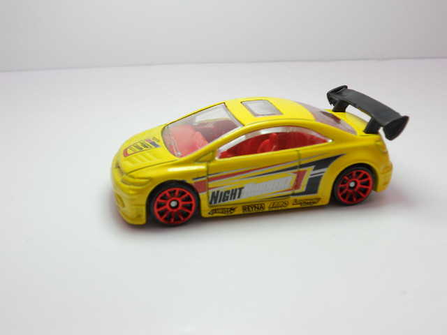 hot wheels honda civic si yellow (2)