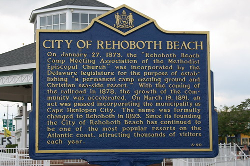 Sign for Rehoboth Beach