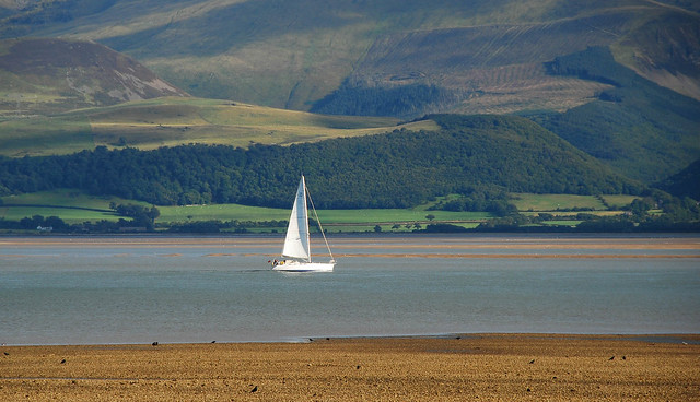 yatch in the menai Straits