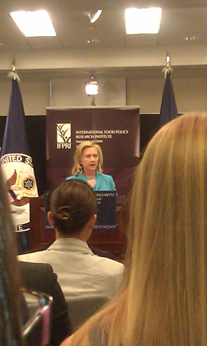 Hillary Clinton speaks at IFPRI on the drought in the Horn