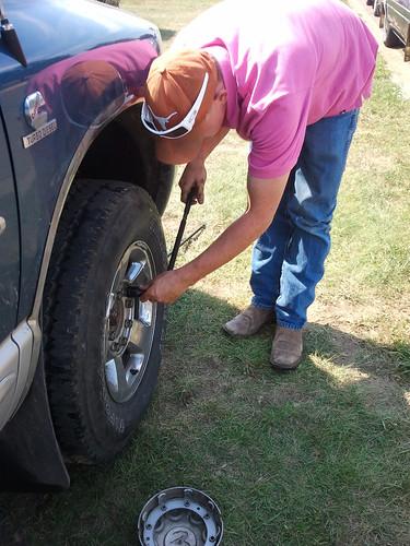 Leon fixes my brake problem.