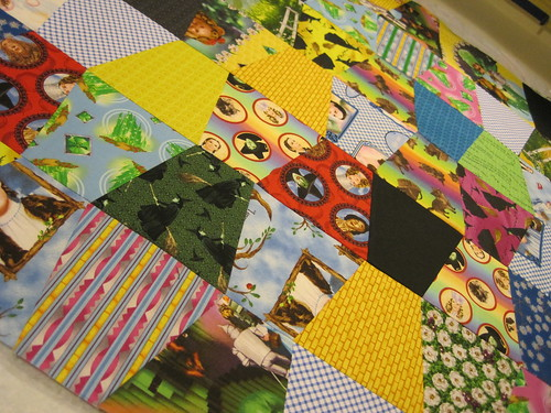 Wizard of Oz Tumbling Blocks, In Progress