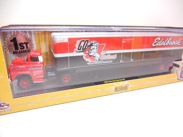 m2 auto trucks 1958 chevrolet spartan lcf & edelbrock trailer (3)