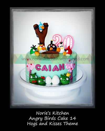 Norie's Kitchen - Angry Birds Cake 14 - Hogs and Kisses by Norie's Kitchen