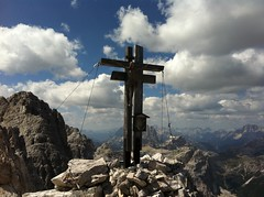 Gipfelkreuz auf der Rotwandspitze in Sexten