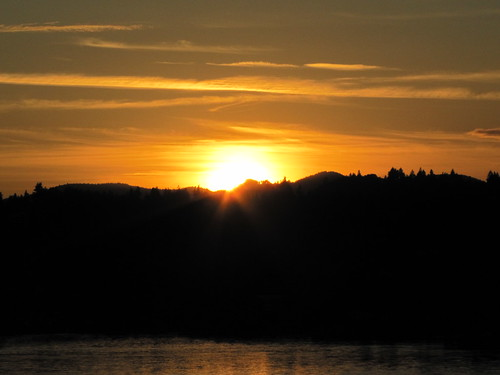 Sunset over Nanaimo