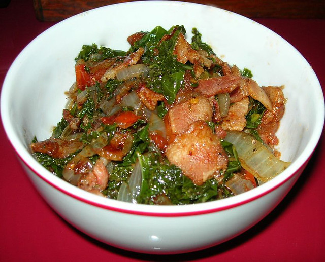 Kale Sauteed with Bacon