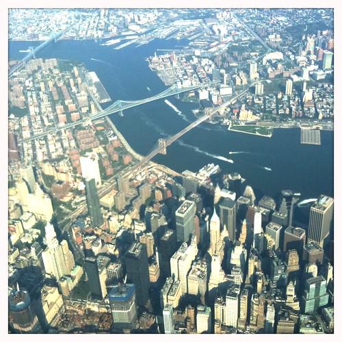 Over Lower Manhattan