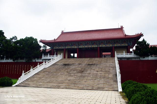 進孔廟主殿堂前,大成門外觀。