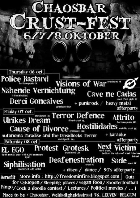CHAOSBAR / PLAN Z Crust-Fest 6th-8th October 2011