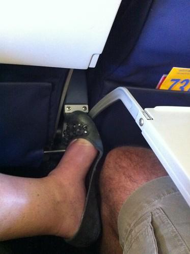 Shoe bling at 35K feet by SusanKurilla