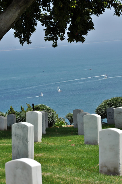 Hillside National Cemetary in Point Loma