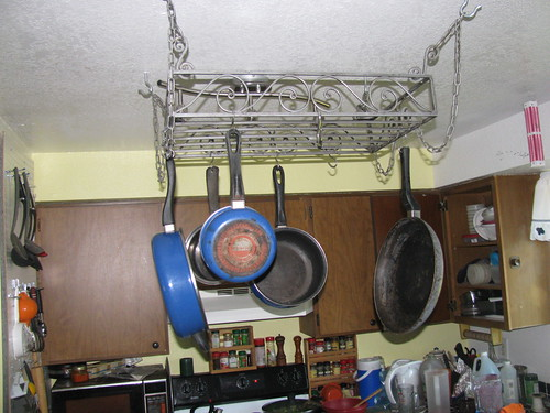 Installed pot rack by jaklumen & family