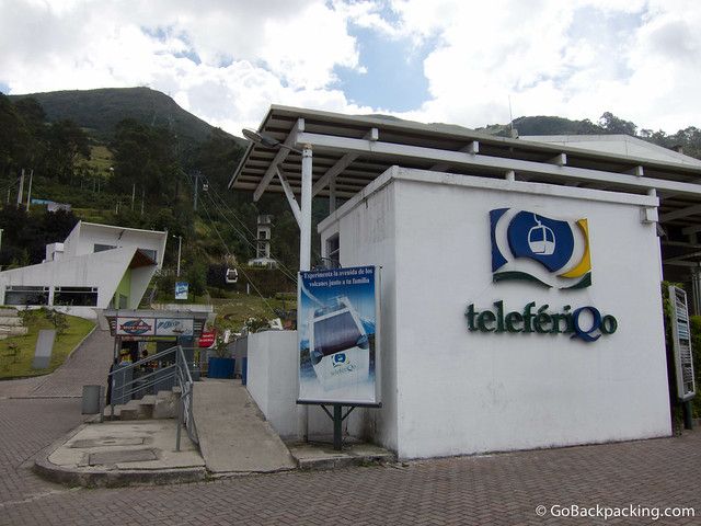 The base of the Quito Teleferico