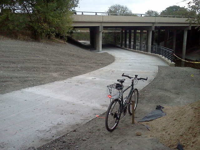 Trail Complete Under Renner Road