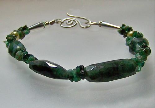 Rustic Gemstone Bracelet by WETCLOUD