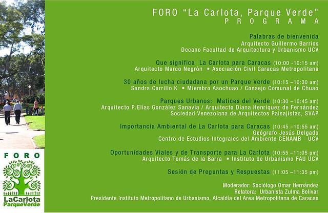 Foro La Carlota Parque Verde 16/11