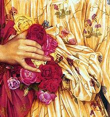 'Flora' (detail) by Evelyn De Morgan, 1894