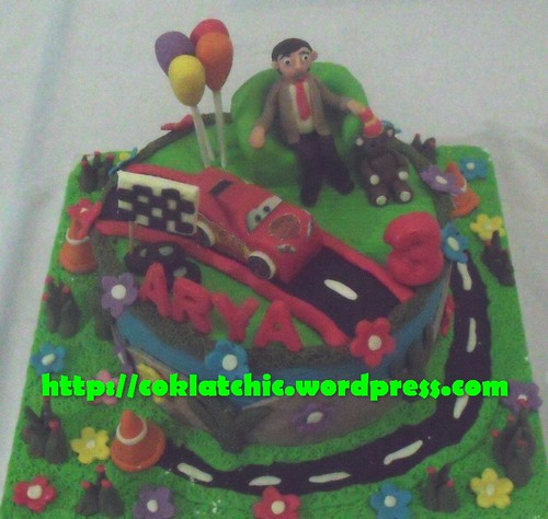 Cake Mr Bean dan cars